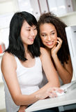Teenagers with Computer Stock Photo