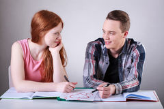 Teenagers couple in love Stock Photo