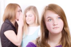Teenagers in crisis Stock Image