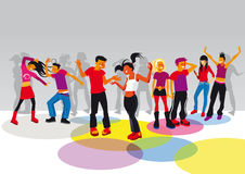 Teenagers dancing Royalty Free Stock Images