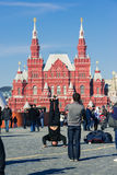 Teenagers dancing hip-hop on Red Square in Moscow Stock Image
