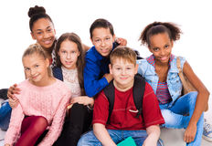 Teenagers with different complexion together Royalty Free Stock Photography