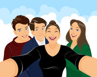 Teenagers doing selfie Royalty Free Stock Photo