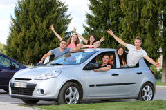Teenagers drive Royalty Free Stock Photos