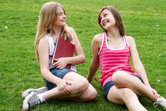 Teenagers enjoying in park Royalty Free Stock Images