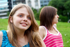 Teenagers enjoying in park Royalty Free Stock Photo