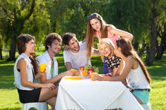 Teenagers enjoying their summer vacation Royalty Free Stock Photos