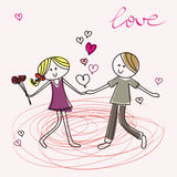 Teenagers fall in love Royalty Free Stock Images