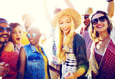 Teenagers Friends Beach Party Happiness Concept Stock Image