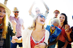 Teenagers Friends Beach Party Happiness Concept Royalty Free Stock Image