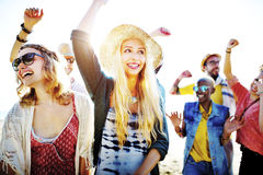 Teenagers Friends Beach Party Happiness Concept Stock Photography