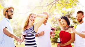 Teenagers Friends Dancing Hangout Happiness Concept Stock Photography