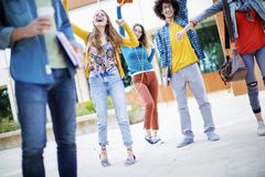Teenagers friends friendship students concept Royalty Free Stock Photo