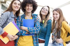 Teenagers friends friendship students concept. Teenagers friends friendship  students concept Royalty Free Stock Photo