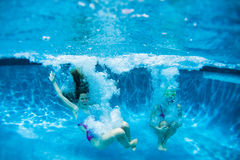 Teenagers Girls Pool Fun Royalty Free Stock Photo