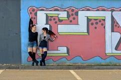 Teenagers girls Stock Image