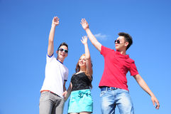 Teenagers giving five Stock Photography