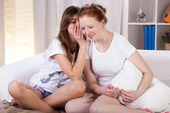 Teenagers gossiping about boys Royalty Free Stock Photo