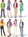 Teenagers. royalty free illustration