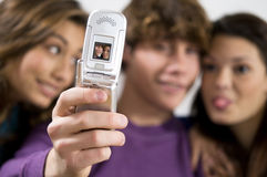 Teenagers having fun together Royalty Free Stock Photos