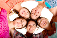Teenagers. Isolated in white background Royalty Free Stock Image