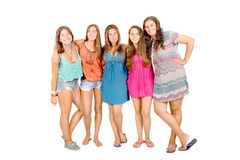 Teenagers. Isolated in white background Stock Images