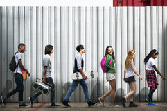 Teenagers Lifestyle Casual Culture Youth Style Concept Stock Photography