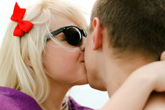 Teenagers in love. Two teenagers having an intimate moment Stock Images