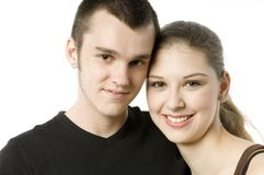 Teenagers In Love Royalty Free Stock Photography