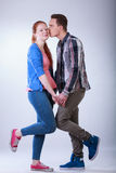 Teenagers in love Stock Images