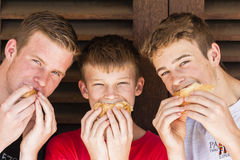 Teenagers Lunch Sandwich Royalty Free Stock Photography