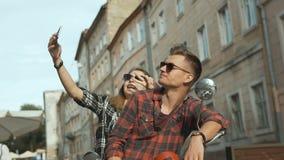 Teenagers Makes Selfie stock video