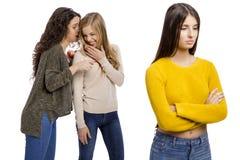 Teenage girls gossiping Royalty Free Stock Photo