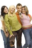 Teenagers making photo Royalty Free Stock Images