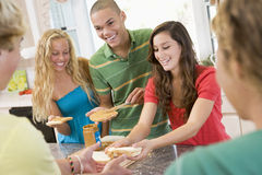 Teenagers Making Sandwiches Stock Photo