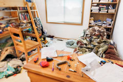 Teenagers messy room Royalty Free Stock Photos