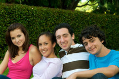 Teenagers in nature Royalty Free Stock Images
