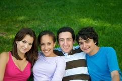 Teenagers in nature Royalty Free Stock Image