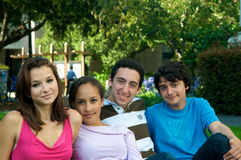Teenagers in nature Stock Photography