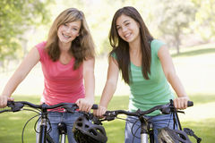 Teenagers On Bicycles Royalty Free Stock Photography