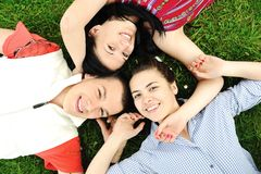 Teenagers outdoor. On the nature Stock Image