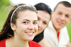 Teenagers outdoor Royalty Free Stock Image