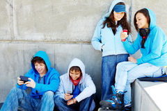 Teenagers outdoors Royalty Free Stock Photography
