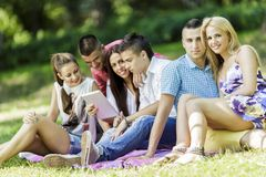 Teenagers in the park Stock Photography