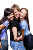 Teenagers playing Royalty Free Stock Photos