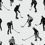 Teenagers playing hockey Royalty Free Stock Image