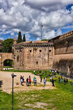 Teenagers playing at Saint Angelo Castle, Rome, Italy Stock Image