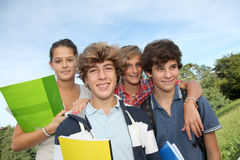 Teenagers portrait Royalty Free Stock Photo