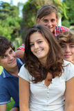 Teenagers portrait Royalty Free Stock Photos