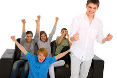 Teenagers rejoicing Stock Photography